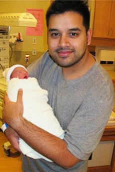 Jeremy Chen, with his son, Xavier